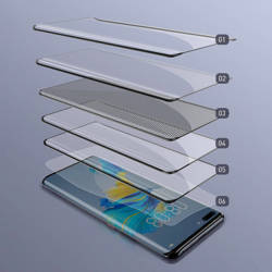 Baseus 0.25mm Full Screen Curved Surface Full Rubber Tempered Glass Film for HUAWEI Mate40 Pro (1pcs/pack) Black (Include a Cleaning Kit + Super Pasting Artifact)