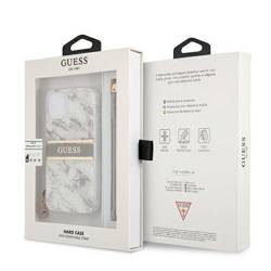 """Guess GUHCP13SKMABGR iPhone 13 mini 5.4"""" grey/grey hardcase Marble Strap Collection"""