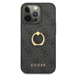 """Guess GUHCP13X4GMRGR iPhone 13 Pro Max 6.7"""" grey/grey hardcase 4G with ring stand"""