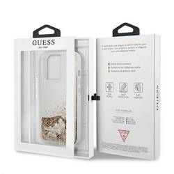 """Guess GUHCP13XGLHFLGO iPhone 13 Pro Max 6.7"""" gold/gold hardcase Glitter Charms"""
