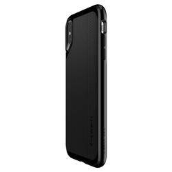 SPIGEN Case Cover Apple iPhone NEO Hybrid X Jet Black + Full Cover Glass SPIGEN