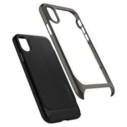 SPIGEN Case Cover Neo Hybrid X Apple Iphone Case Gunmetal Gray Glass + SPIGEN