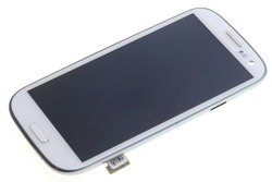 Screen SAMSUNG Galaxy S3 I9300 Grade A Cracked Frame Touch LCD Original White