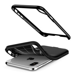 Fall SPIGEN NEO Hybrid Apple iPhone X XS JET Schwarz + Glas 3MK