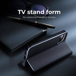 Forcell LUNA Book Carbon Holster für SAMSUNG Galaxy S22 schwarz