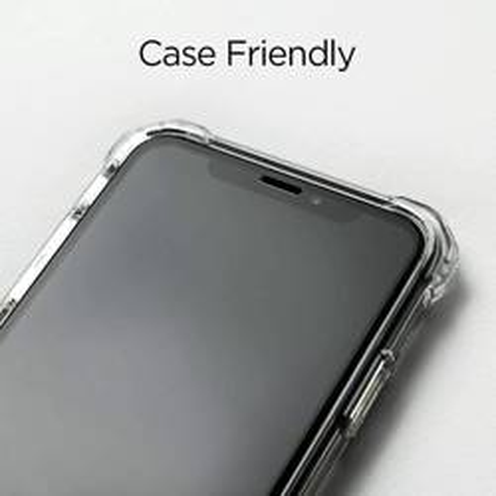 Gehärtetes Glas SPIGEN GLAS.TR Schlankes HD Apple iPhone 11 Pro X XS FC mit voller Abdeckung