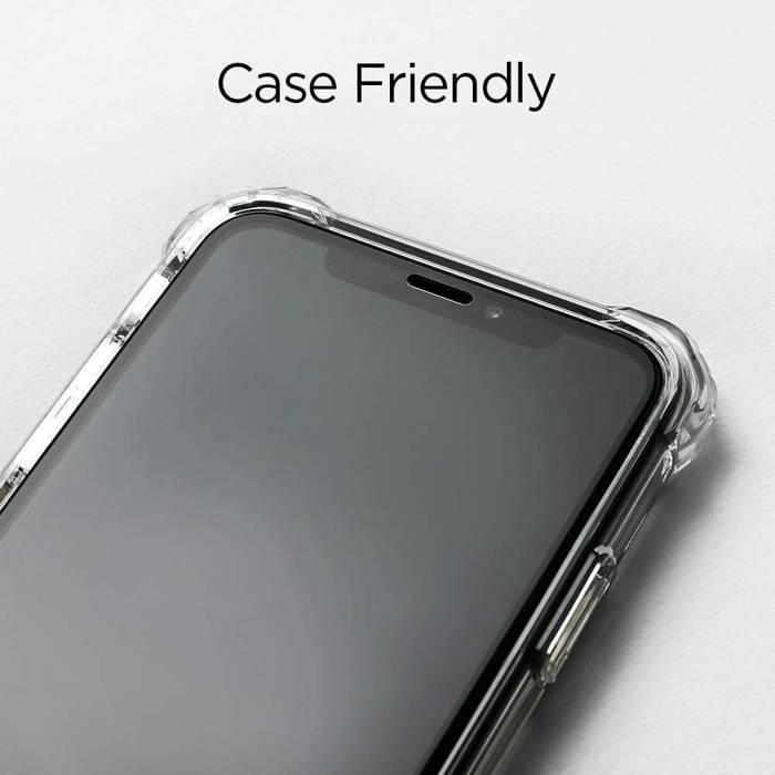 Gehärtetes Glas SPIGEN GLAS.tR HD FC Vollkleber iPhone 11 Pro Max iPhone XS MAX