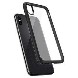 Hülle SPIGEN Ultra Hybrid Apple iPhone X Xs Mattschwarz + 3MK Glas