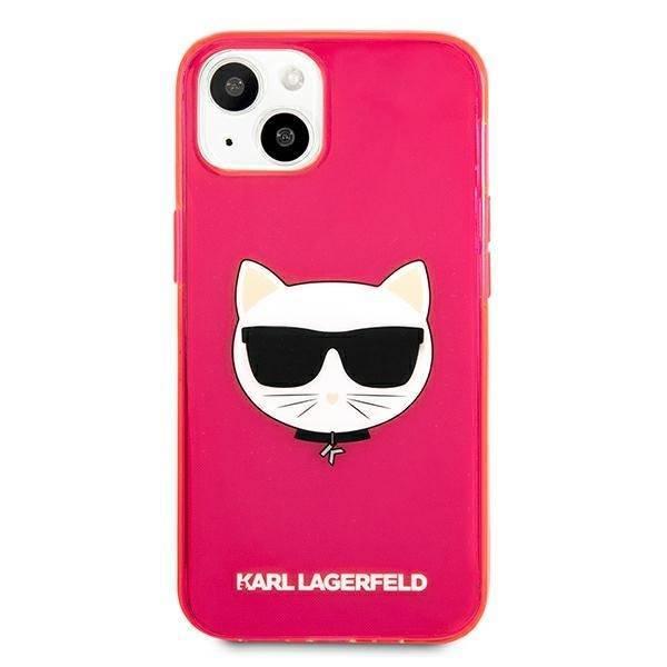 "Karl Lagerfeld KLHCP13SCHTRP iPhone 13 mini 5,4"" rosa/rosa HartschalenHülle Glitter Choupette Fluo"