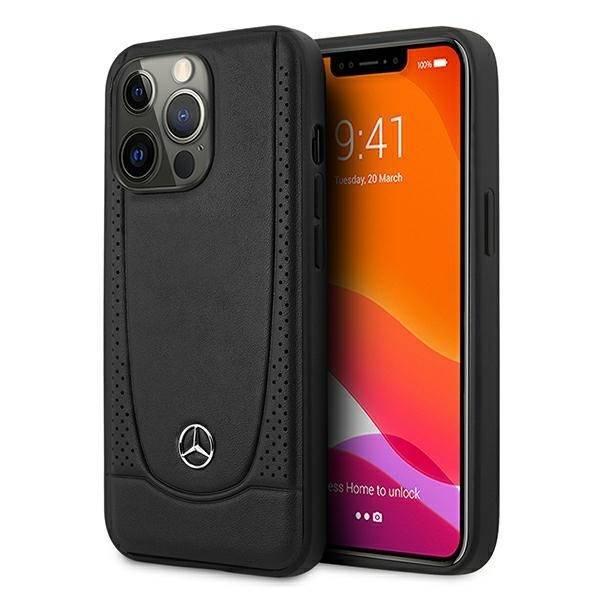 """Mercedes MEHCP13LARMBK iPhone 13 Pro / 13 6.1"""" Hartschalenkoffer schwarz/schwarz Urban Line"""