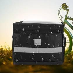 [PO ZWROCIE] Wozinsky torba rowerowa na kierownicę z oknem okienkiem na telefon dotykowy 2L czarny (WBB12BK)