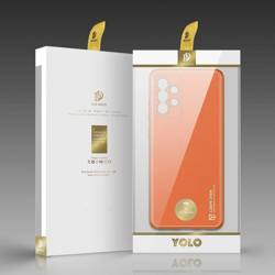 Dux Ducis Yolo eleganckie etui pokrowiec ze skóry ekologicznej Samsung Galaxy A72 4G pomarańczowy