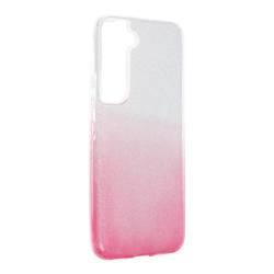 ETUI Futerał Forcell SHINING do SAMSUNG Galaxy S22 transparent/róż CASE