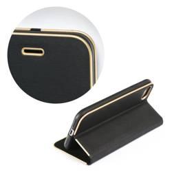 ETUI Kabura Forcell LUNA Book Gold do SAMSUNG Galaxy Xcover 5 czarny CASE