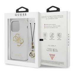 Etui GUESS Apple iPhone 13 Pro Max 4G Gold Charms Collection Bezbarwny Hardcase
