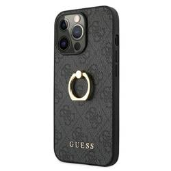 Etui GUESS Apple iPhone 13 Pro Max 4G With Ring Stand Szary Hardcase