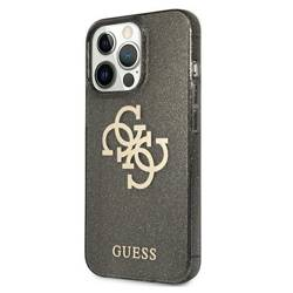 Etui GUESS Apple iPhone 13 Pro Max Glitter 4G Big Logo Czarny Hardcase