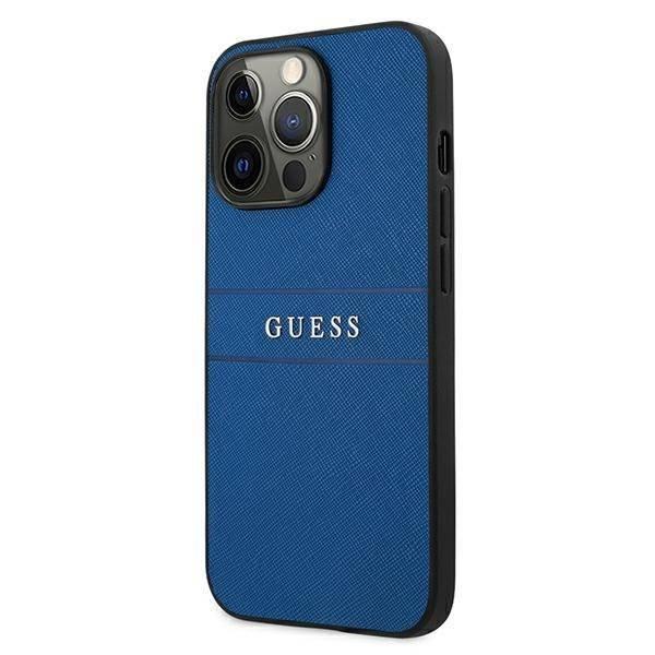 "Etui Guess GUHCP13LPSASBBL iPhone 13 Pro / 13 6,1"" niebieski/blue Saffiano Strap"