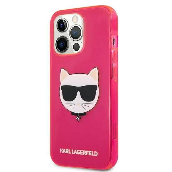 Etui KARL LAGERFELD Apple iPhone 13 Pro Max Glitter Choupette Fluo Różowy Hardcase