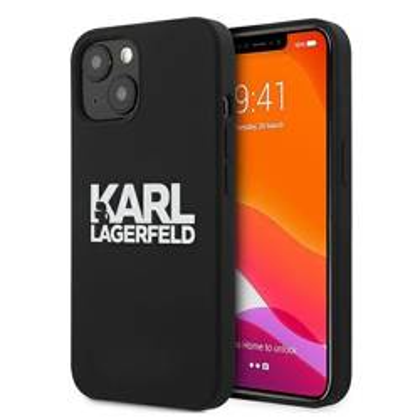 Etui KARL LAGERFELD Apple iPhone 13 Silicone Stack Logo Czarny Case