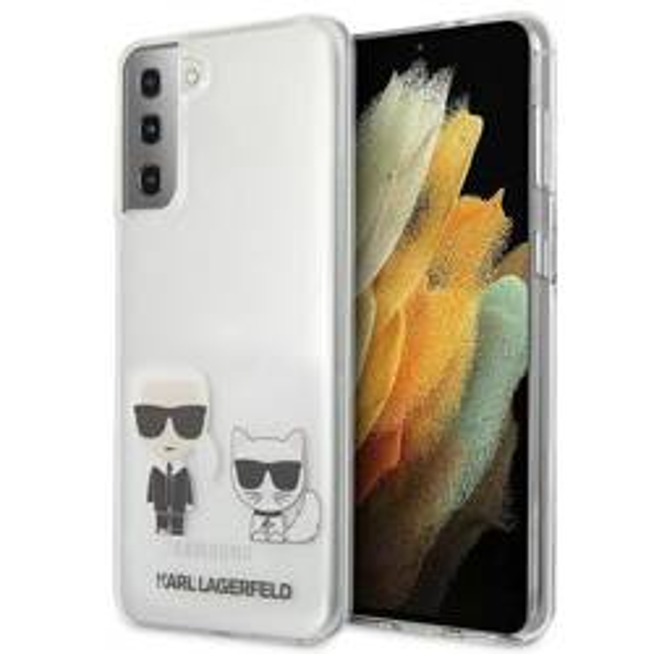 Etui KARL LAGERFELD Samsung Galaxy S21 Karl & Choupette Bezbarwny Hardcase