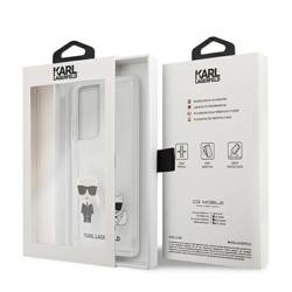 Etui KARL LAGERFELD Samsung Galaxy S21 Ultra Karl & Choupette Bezbarwny Hardcase