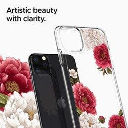 Etui SPIGEN Ciel Apple Iphone 11 Pro Max Red Floral Przeźroczyste Kwiatowe Case