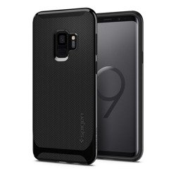 Etui SPIGEN Neo Hybrid Samsung Galaxy S9 Shiny Black + Szkło SPIGEN Case