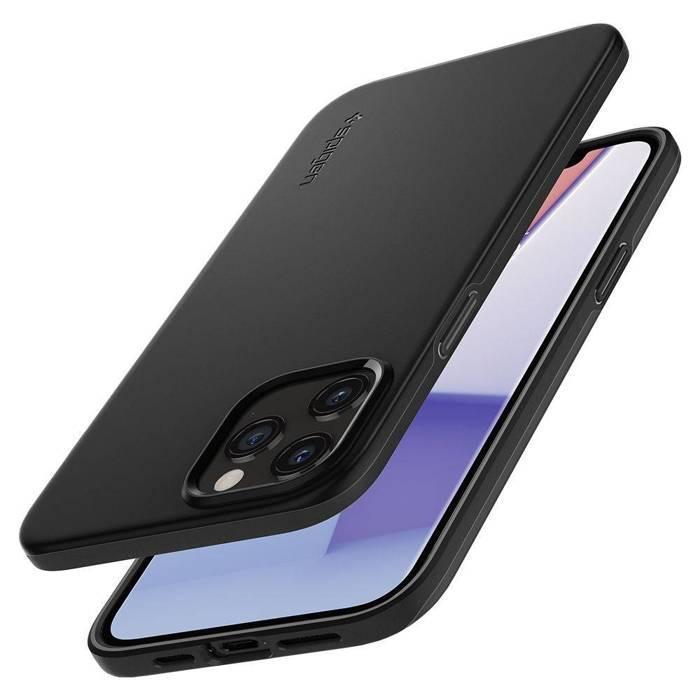 Etui SPIGEN Thin Fit iPhone 12 12 Pro Black Czarne Case