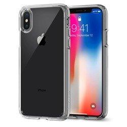 Etui SPIGEN Ultra Hybrid  Apple iPhone X Xs Clear Przezroczysty + Szkło SPIGEN Case