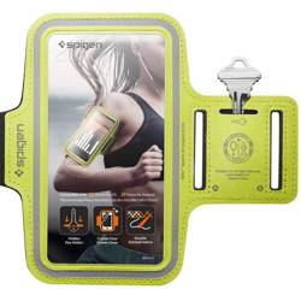 Etui Wodoodporne SPIGEN A700 Sport Armband 6.9 Neon Limonkowe Case