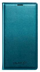 Futerał SAMSUNG Galaxy S5 Flip Wallet Zielony Blue Topaz Oryginalny Nowy