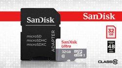 SanDisk karta pamięci microSDHC dla Androida (32GB   klasa 10   98 MB/s   UHS-I) + adapter