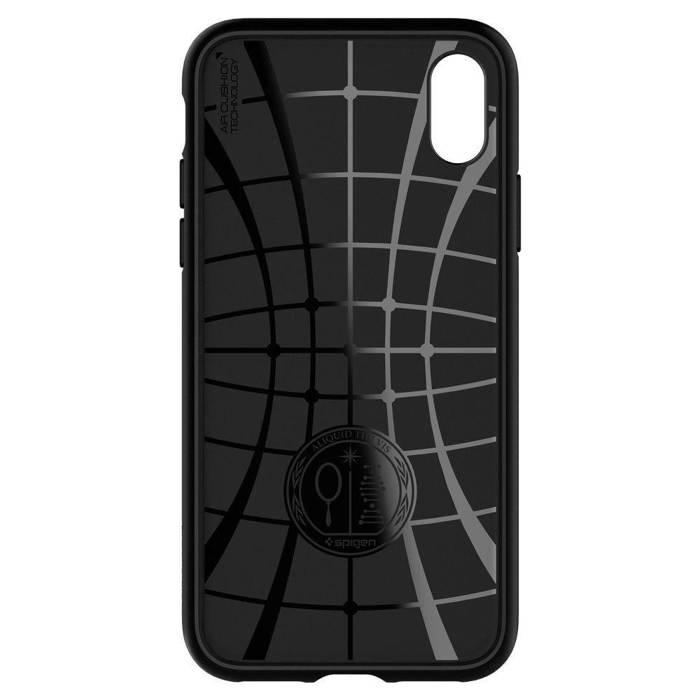 Spigen iPhone X XS Etui Liquid Air Czarne Case Apple