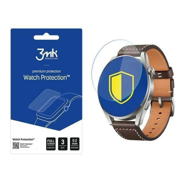 Szkło Hybrydowe 3MK Huawei Watch 3 Pro FlexibleGlass