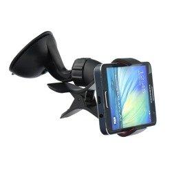 Uchwyt Samochodowy Klips iPhone Galaxy S4 S5 S6 S7 Czarny