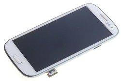 WYŚWIETLACZ SAMSUNG Galaxy S3 I9300 Grade A Pęknięta Ramka Dotyk LCD Oryginalny Biały