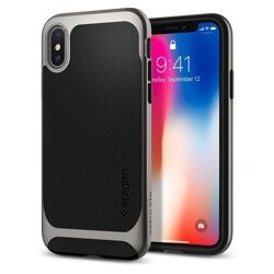 Spigen iPhone XS X Etui Neo Hybrid Gunmetal Case Apple